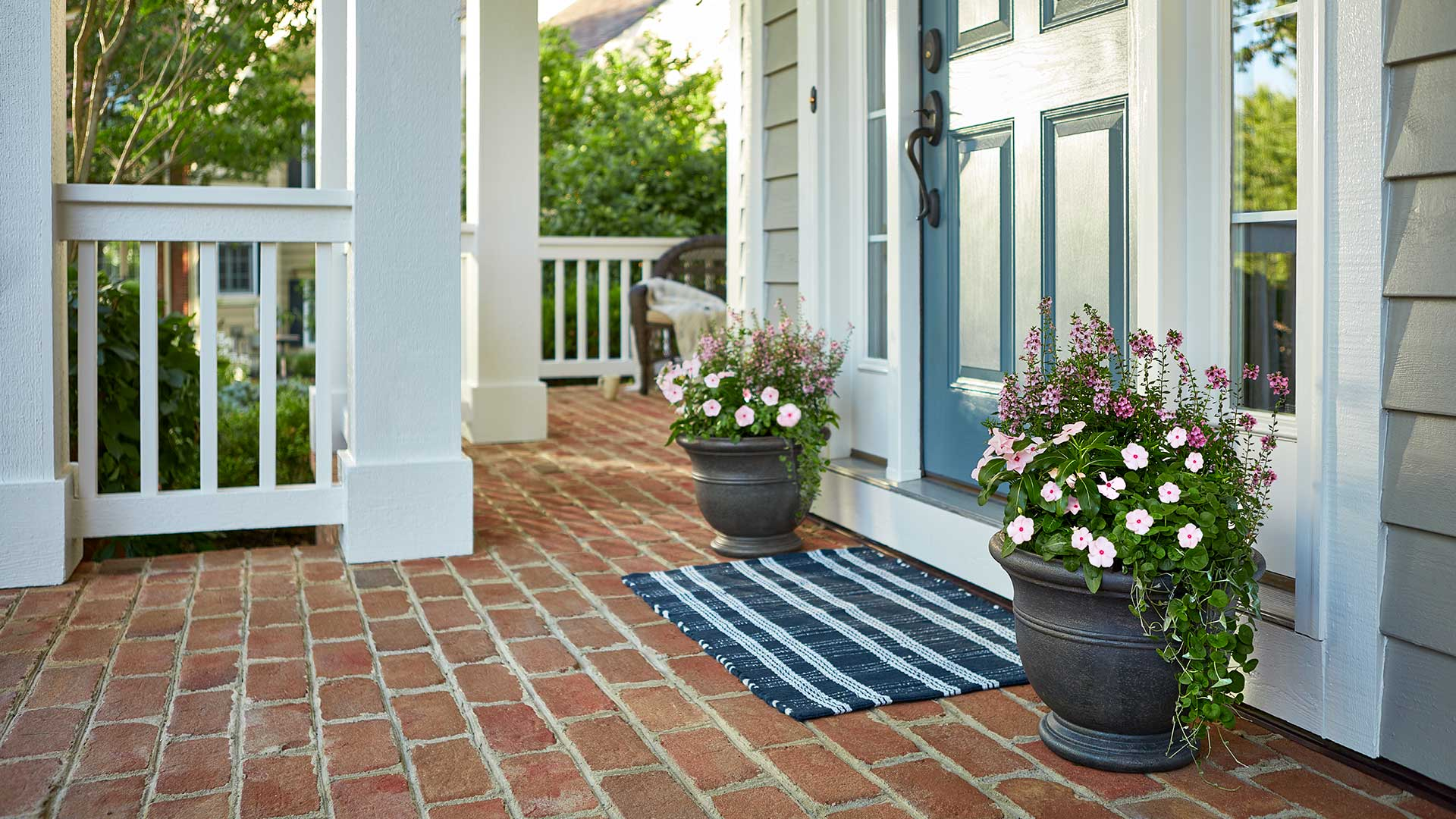 Pretty Porch with Planters